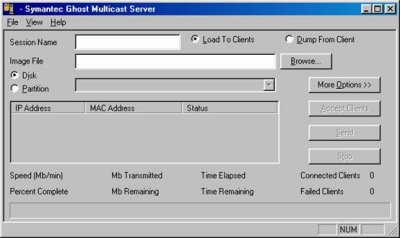 symantec ghost multicast server